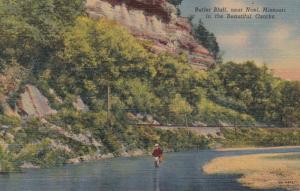 Missouri Noel Fishing At Butler Bluff 1951 Curteich