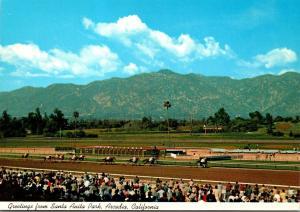 California Arcadia Greetings From Santa Anita Park Horse Racing