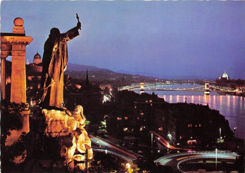 B30831 Budapest view with Monument of St Gellert  hungary