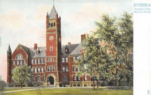 Gettysburg Pennsylvania~Gettysburg College~Recitation Hall~c1905 TUCK