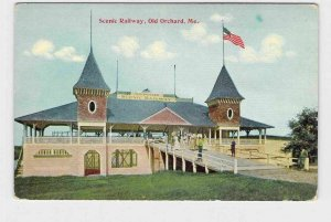 PPC POSTCARD MAINE OLD ORCHARD SCENIC RAILWAY EXTERIOR VIEW