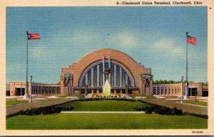Ohio Cincinnati Union Terminal Curteich