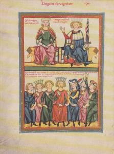 Minnesinger Miniatures Klingsor Von Ungerlant Medieval Art Germany