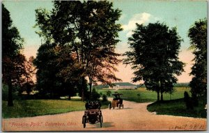 Columbus, Ohio Postcard FRANKLIN PARK Boulevard / Early Automobiles c1910s
