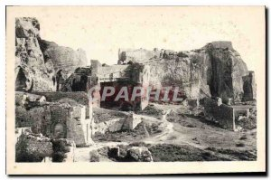 Old Postcard The Party Baux ruins of the feudal Chateau and the X century Sar...