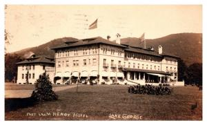 New York  Lake George, Fort William Henry Hotel ,  RPC