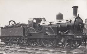 NER 1469 Train Railway Vintage Real Photo Postcard