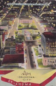 Oklahoma City Civic Center By Night