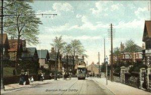 Burton Road Derby - Street Car c1910 Postcard