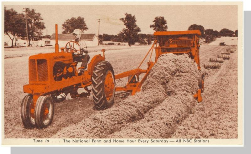 Allis-Chalmers Model WD Tractor Postcard, The Roto-Baler