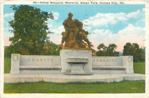 Kansas City MO~Swope Park~Alfred Benjamin Memorial~Charity-Humanity Benches~1937