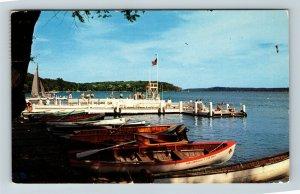 Williams Bay WI, George Williams College Camp, Wisconsin Chrome Postcard Z50