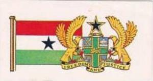 Brooke Bond Tea Vintage Trade Card Flags &  Emblkems Of The World No 8 Ghana