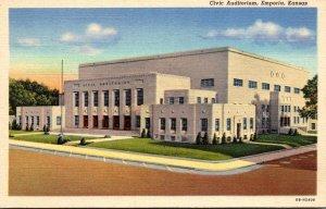 Kansas Emporia Civic Auditorium Curteich
