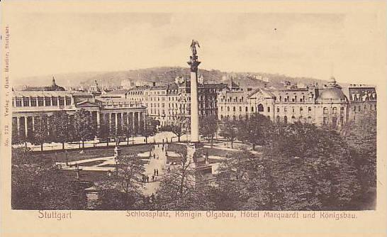 Schlossplatz Ronigin Olgabau Hotel Marquardt Und Konigsbau