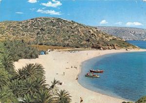 Greece Vai Sitia Crete The palm trees and the beach Les palmiers et la plage