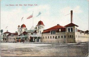 Las Banos del Mar San Diego CA Calif Unused Postcard F34