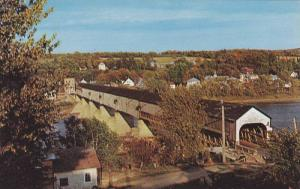 Bird's Eye View, World´s Longest covered Bridge, St. John´s River, Hartland...