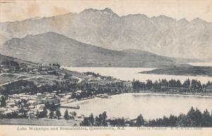 LAKE WAKATIPU and Remarkables, New Zealand, 1900-1910's; Queenstown