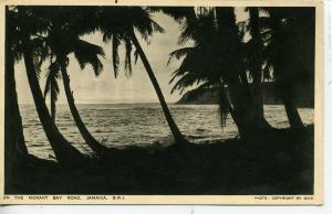 JAMAICA BRITISH WEST INDIES POSTCARD MORANT BAY ROAD BY GICK