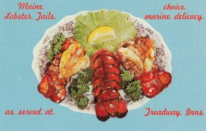 MAINE Lobster Dinner served at Treadway Inns , 1950-60s