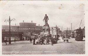 RP: MANCHESTER , England , UK , 1907 ; Exchange Station & Cromwell Monument