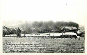 Railroad, Daylight, Streamline Train, Southern Pacific, No. 208, RPPC