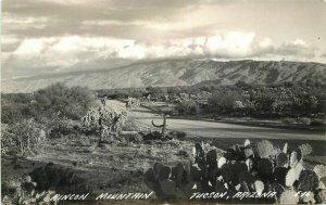 Cook 1940s Rincon Mountain Tucson Arizona RPPC Photo Postcard 6773