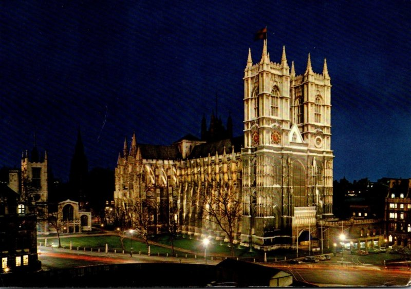 England London Westminster Abbey By Night 1972