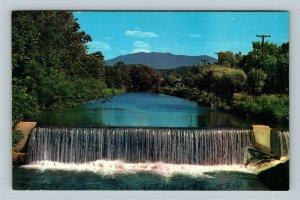 Gatlinburg TN, Pigeon Force Dam, Mt Le Conte, Chrome Tennessee Postcard