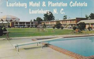 Laurinburg Motel & Plantation Cafeteria, Swimming Pool, Laurinburg, North Car...
