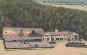 Tennessee Gatlinburg New Riverside Hotel Entrance To the Great Smoky Mountain...