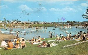 Davenport Iowa~Lakeside Manor Park~Swimmers/Sunbather~Bikini Girls~1977 Postcard