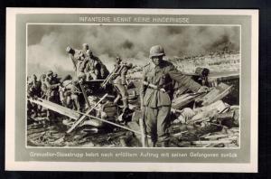 Mint WW2 RPPC Postcard Germany Army Wehrmacht With Russian POW Prisoners of War