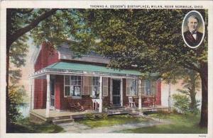 Ohio Norwalk Thomas A Edisons Birthplace Millan 1937