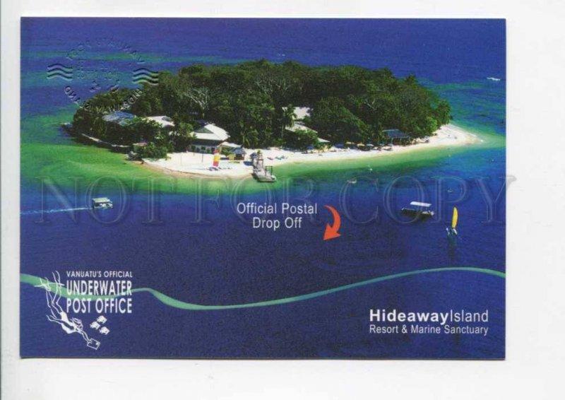 422058 Vanuatu Underwater post office Diving Postal Stationery postal postcard