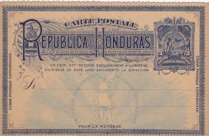 Card , 3 Centavos , HONDURAS , 1890s ; Version-2