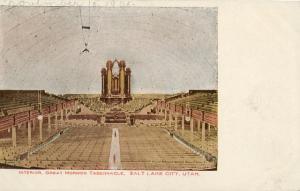 Interior Mormon Tabernacle Salt Lake City Utah Temple 1905