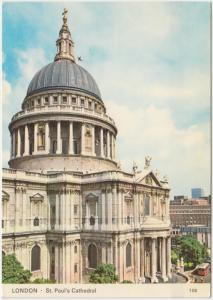 St. Paul's Cathedral, London, used Postcard