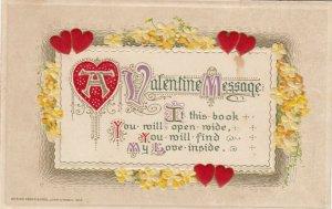 A VALENTINE Message, PU-1908; Poem