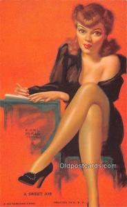 Sweet Job, Earl Moran 1945 Mutoscope Artist Pin Up Girl, Non Postcard Backing...