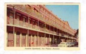 View of the Pontalba Apartments, New Orleans, Louisiana, 40-60s