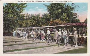 Florida Saint Petersburg Shuffle Board The Sunshine City