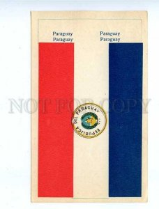 179752 PARAGUAY flag old paper flag card 1957 year