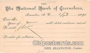 National Bank of Greensboro Greensboro, NC, USA Postcard Post Card Greensboro...