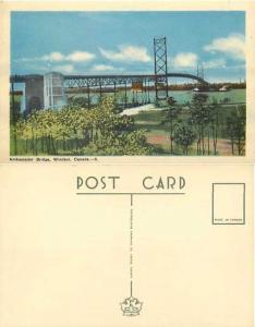 Ambassador Bridge, Windsor, Ontario, Canada, PECO White Border