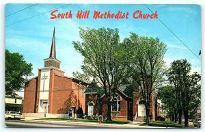 Postcard VA South Hill Methodist Church E12