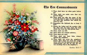 The Ten Commandments  (Exodus 20: 3-17)