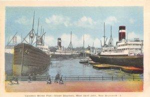 br106607 ocean steamers west st john  new brunswick canada