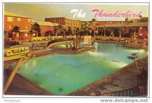 Pool Scene at the Thunderbird Hotel, Las Vegas, Nevada, NV, Chrome